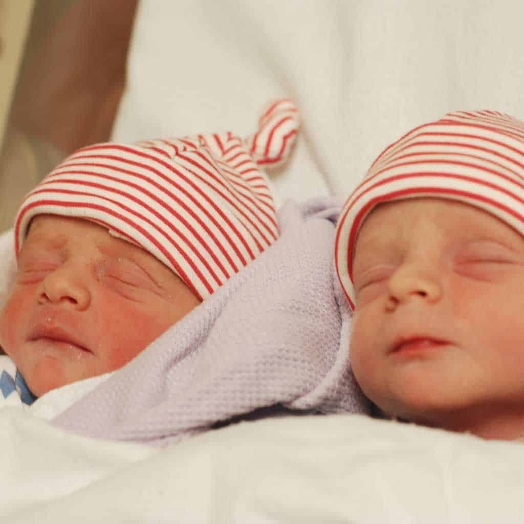 I am a mummy at last — my baby boys at 4 hours old