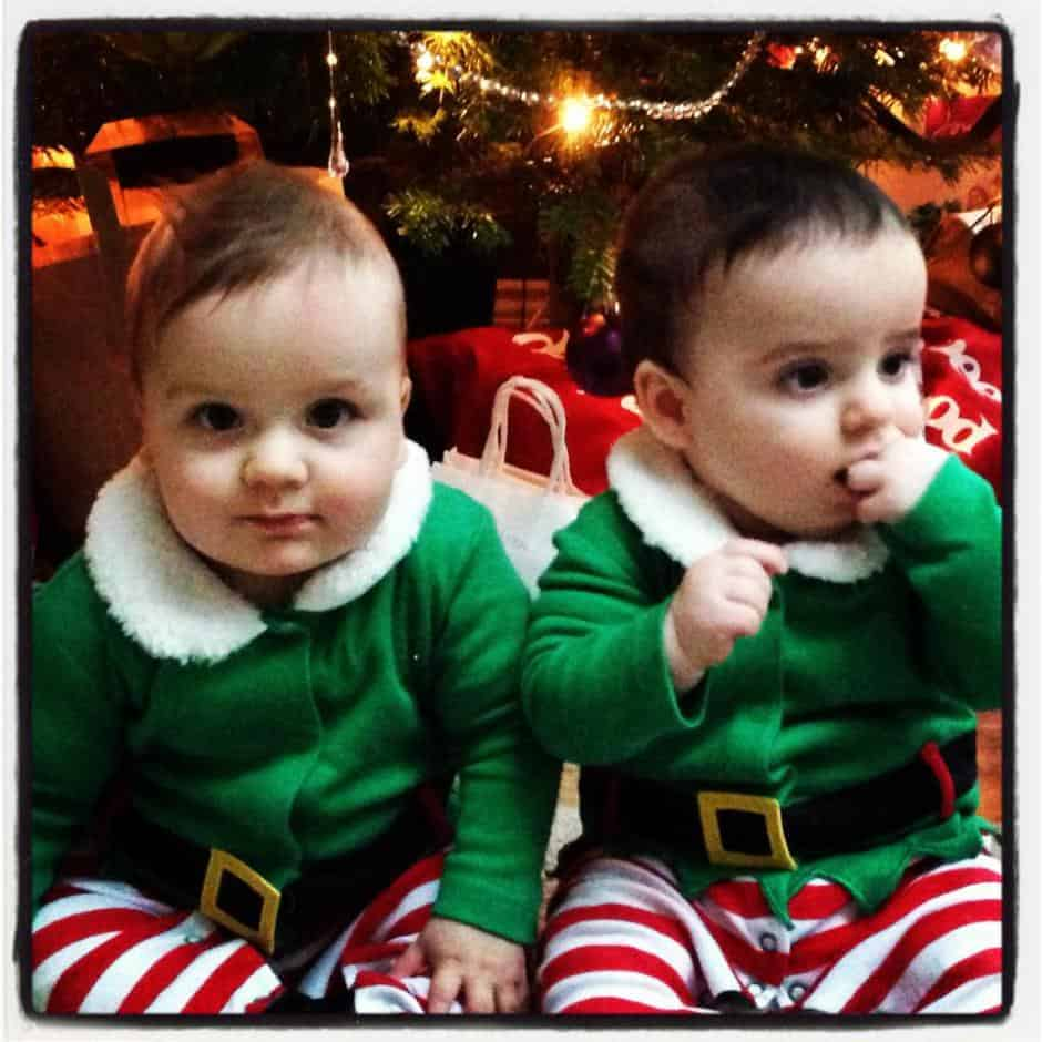 Thoughts on the twins crawling, weaning & Christmas