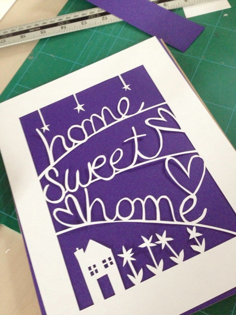 papercut picture tutorial — mount it on coloured card so the design pops