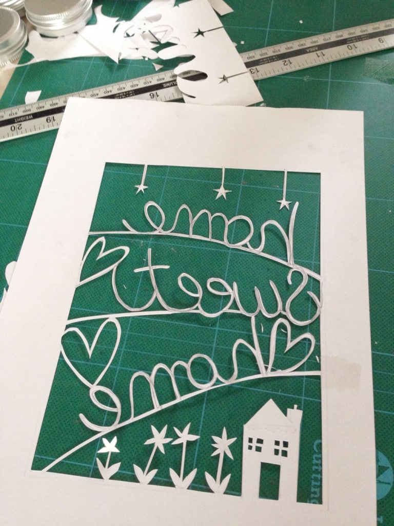 papercut picture tutorial — almost finished