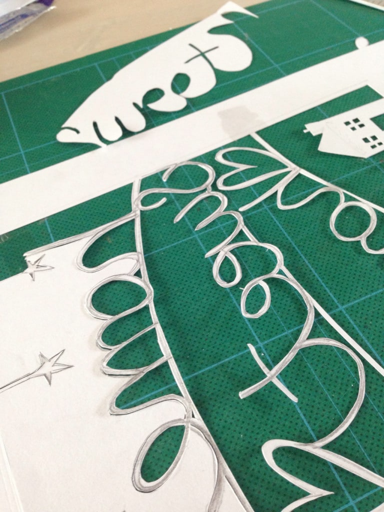 papercut picture tutorial — This process was very time consuming!