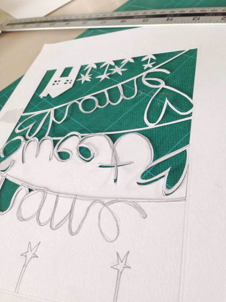papercut picture tutorial — and the pieces that were left were really tiny and fiddly