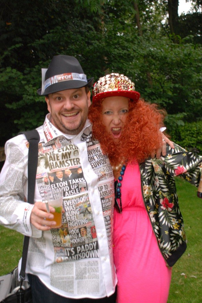 fancy dress party   Edina and The national press