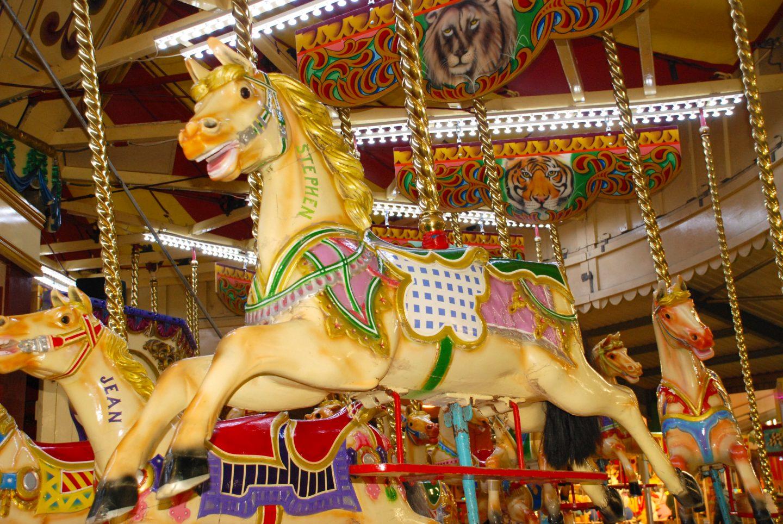 Carousel at Folly Farm adventure park and zoo