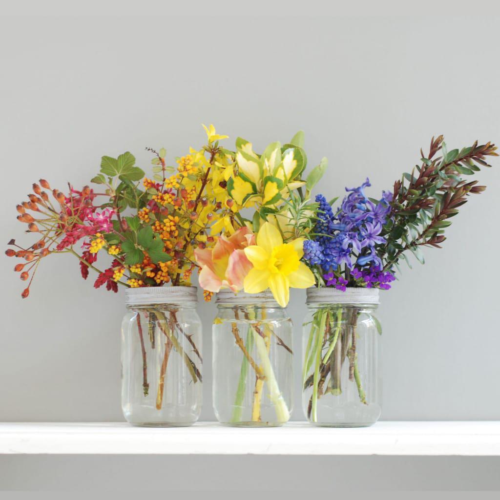 A Rainbow Flower Arrangement