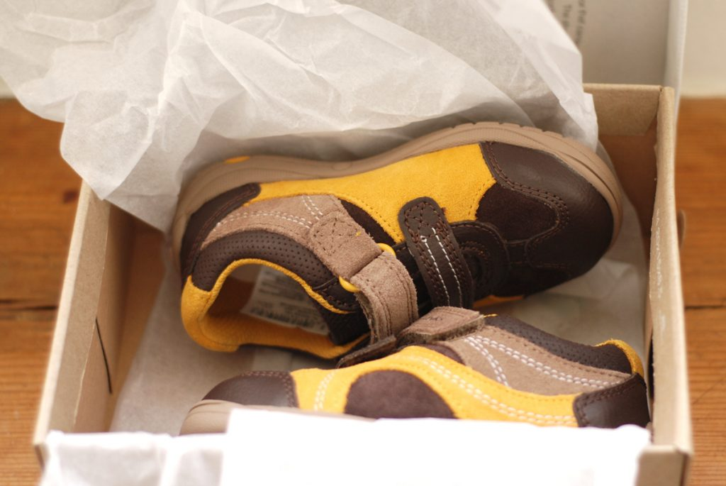 The Twins First Pair of Shoes {Twins Trust Discount}
