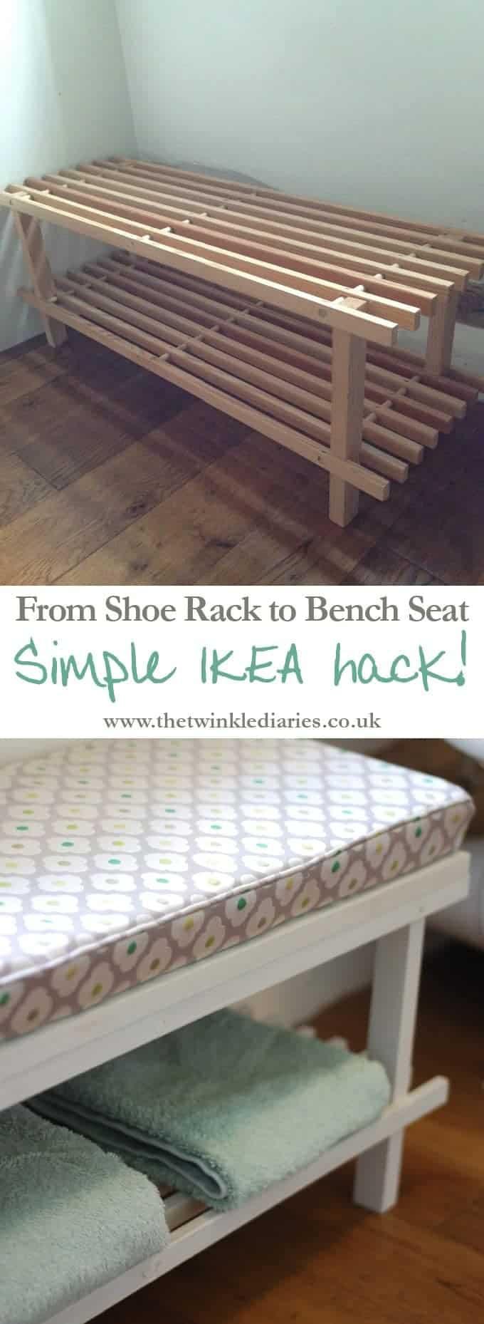 Shoe rack IKEA hack by The Twinkle Diaries