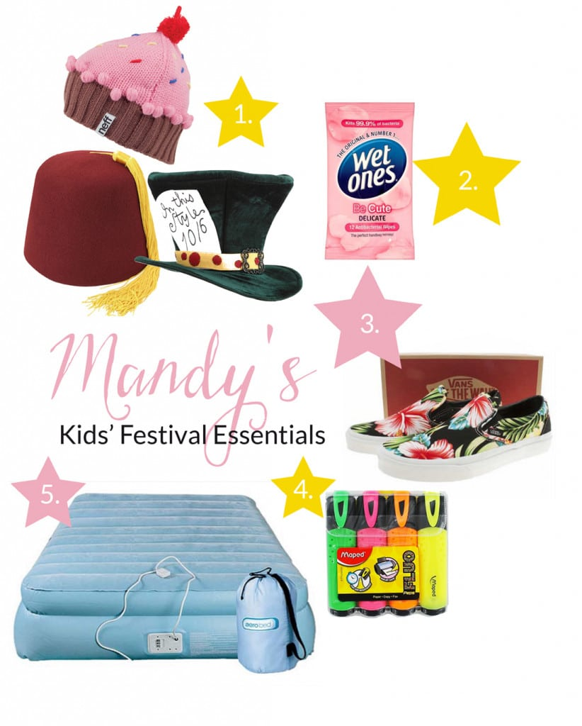Advice and essential items for a kids festival