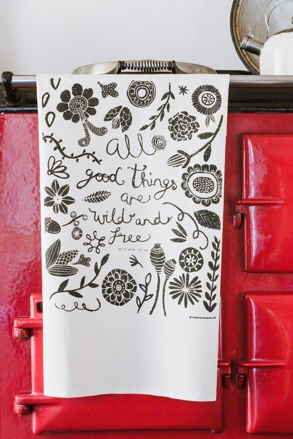All Things Wild & Free Tea Towel by Mellybee at Barnaby & Co