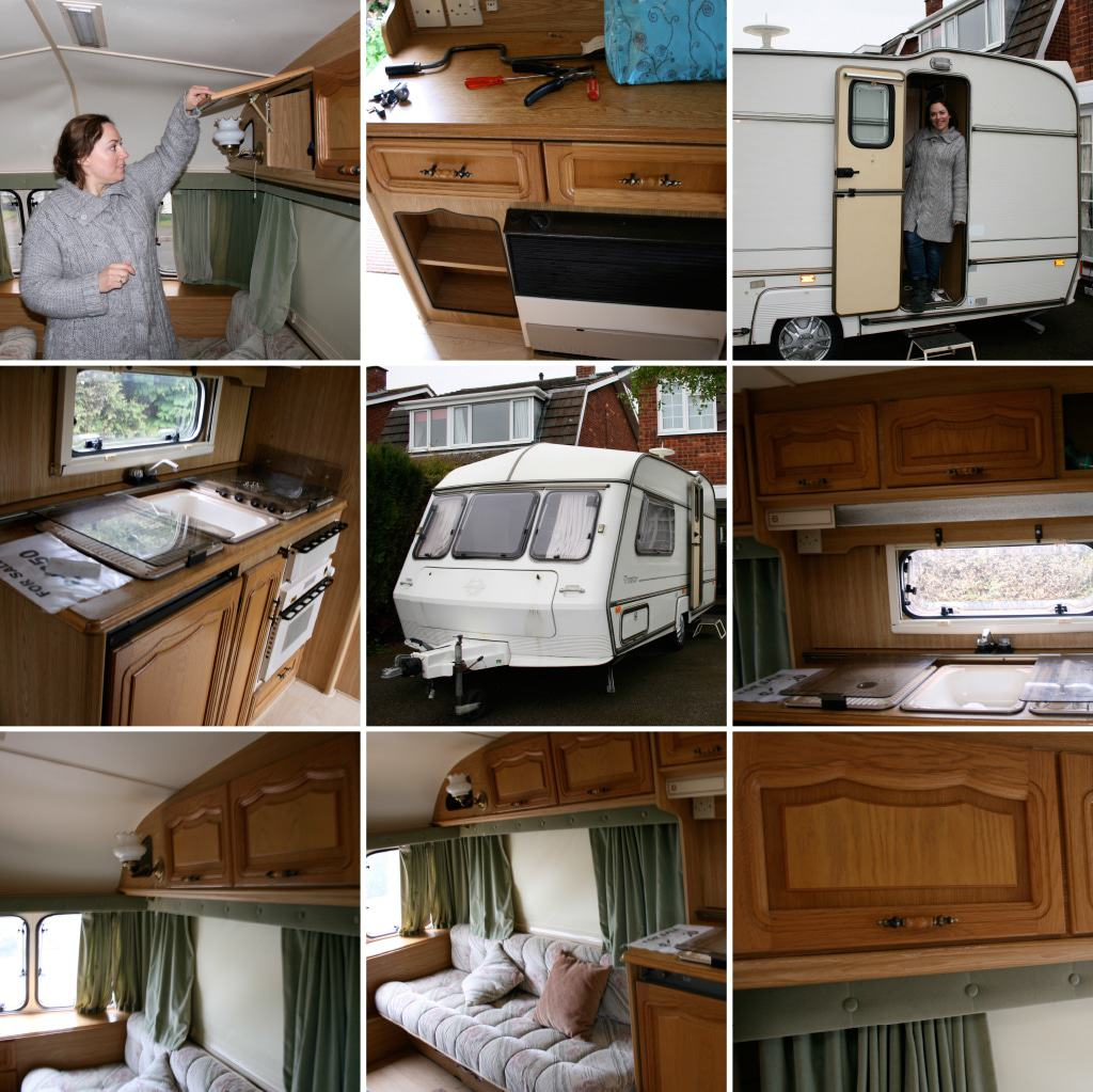 pictures of our first caravan makeover — the before pictures!