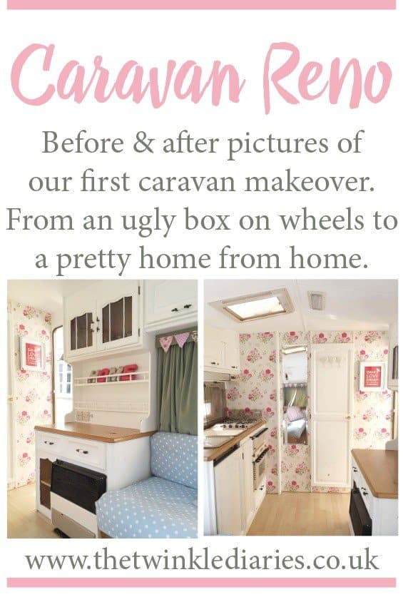 Before and After Pics of our First Caravan Makeover