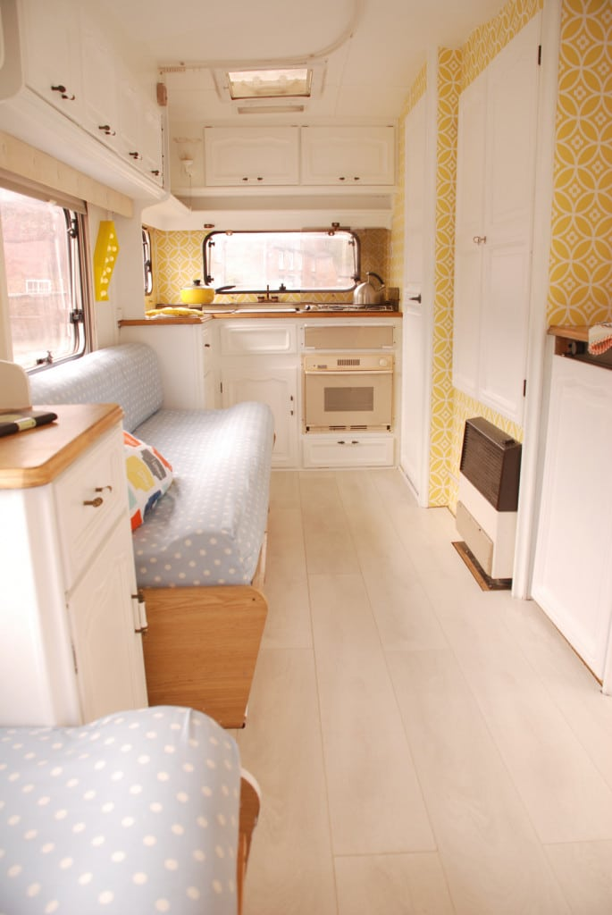 Laying Laminate Flooring in a Caravan — Looks so much better than the grim old carpet!