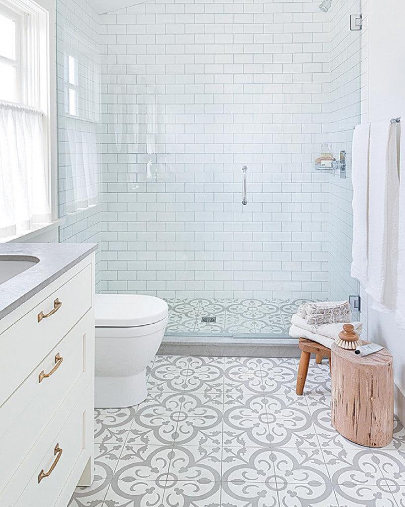 patterned tile flooring