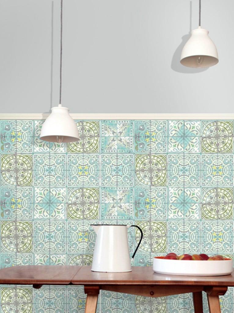 patterned tiled flooring