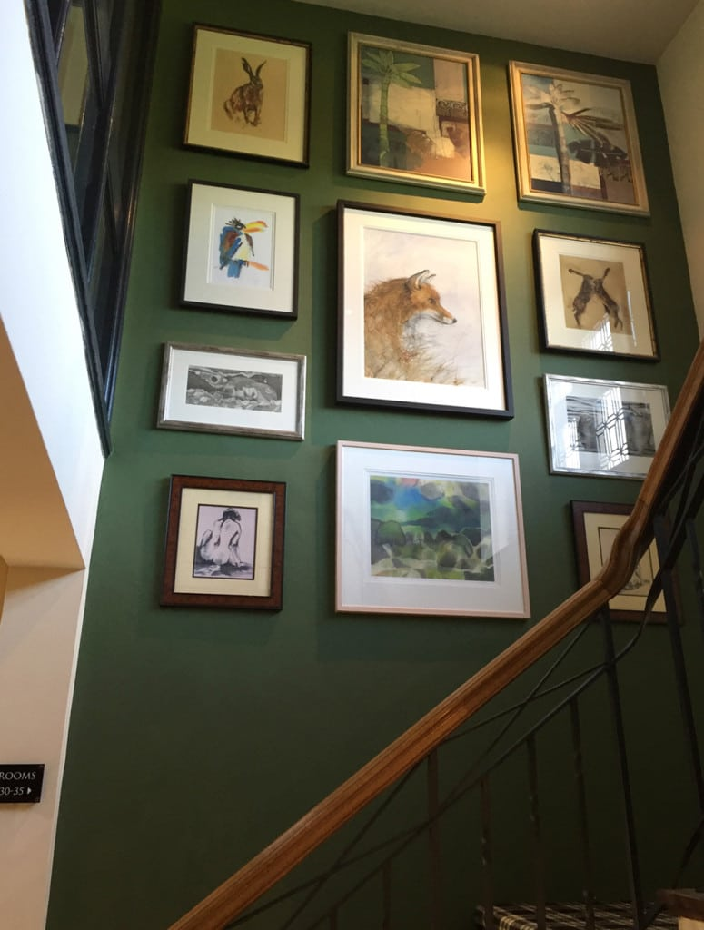 an art gallery in the home