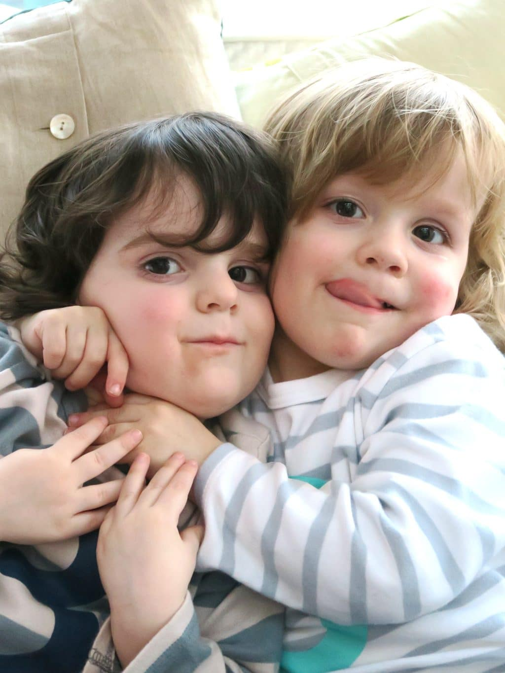 The twins on their third birthday