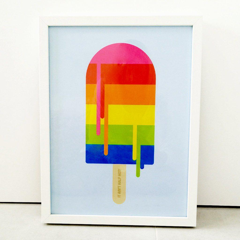 Home Etc Ice Lolly Print