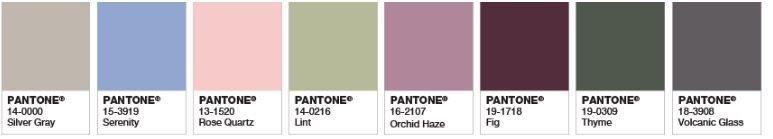 Pantone Rose Quartz Palette