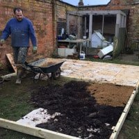 Building a base for the she shed