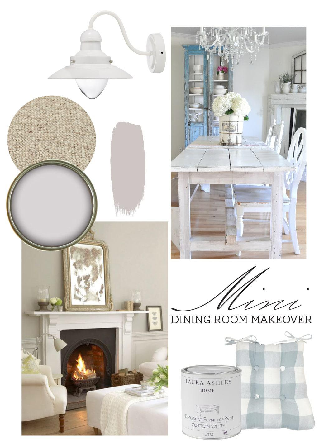 dining room makeover moodboard