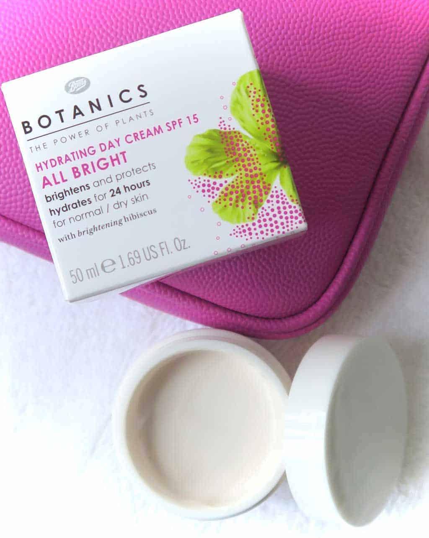 boots botanics skincare review — The Botanics all bright day cream