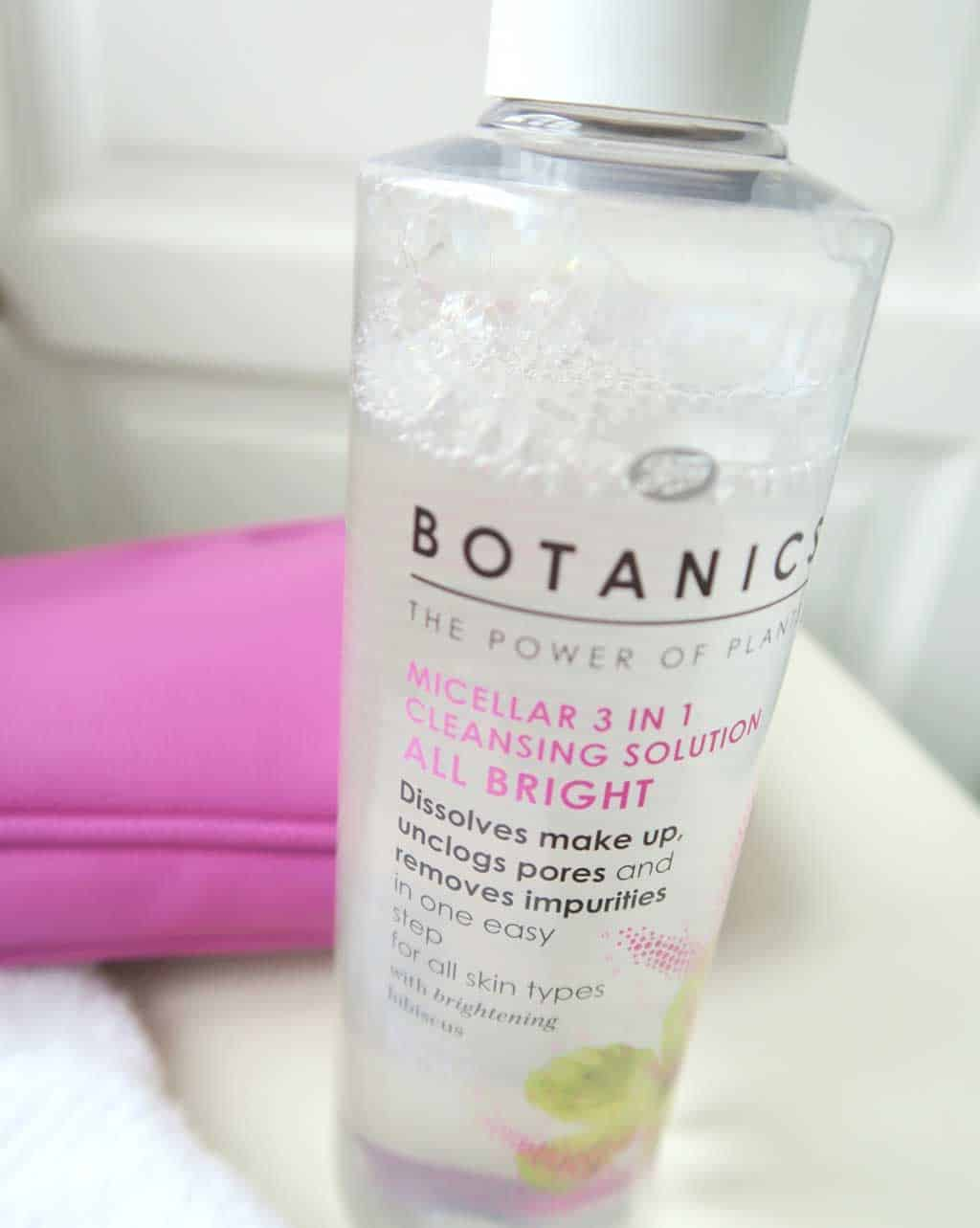boots botanics skincare review — Boots Botanics Miscellar 3 in 1 Cleansing Solution