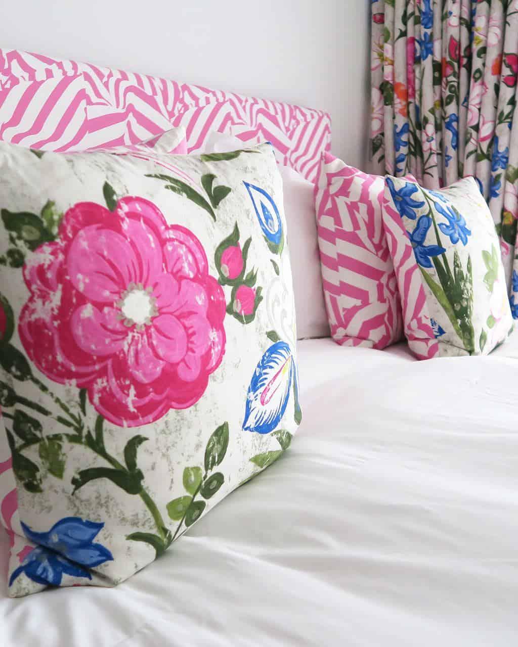 Designer's guild bedding at Dreamcatchers at St Mawes Retreats