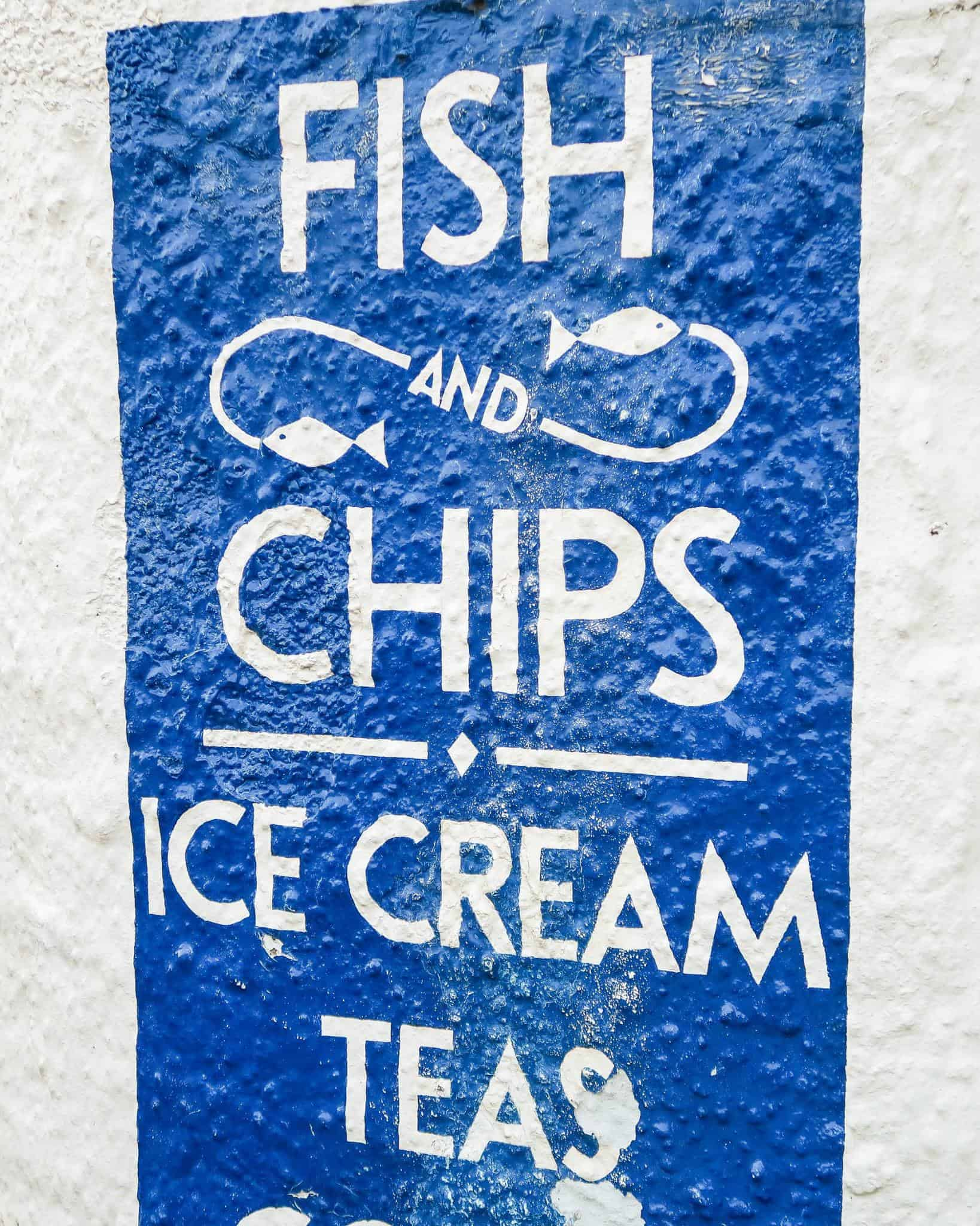 me and mine — fish and chip sign