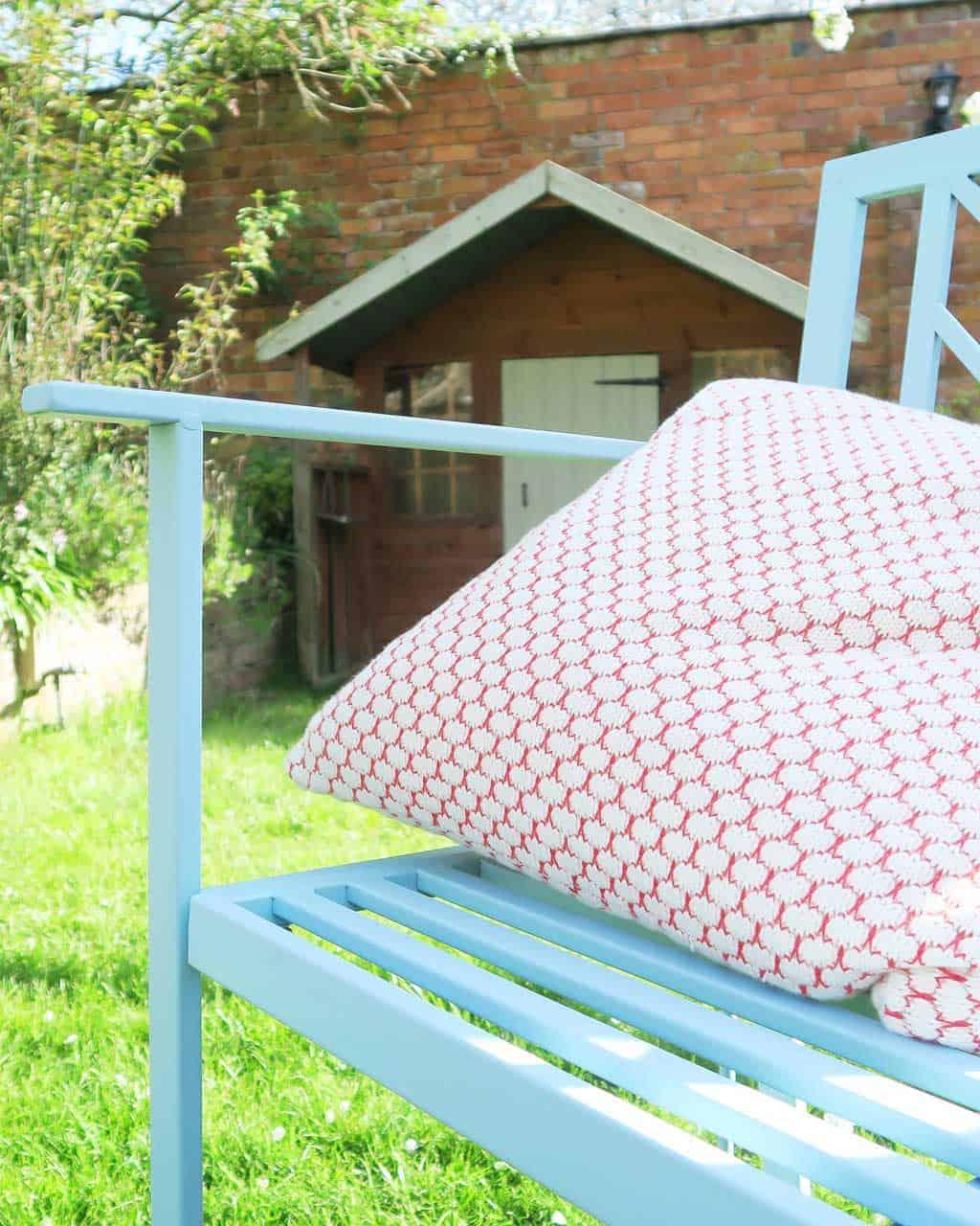 HomeSense garden bench and cushion
