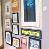 how to create a gallery wall up a staircase