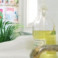 5 tips for a simple bathroom makeover — decant soap into pretty bottles