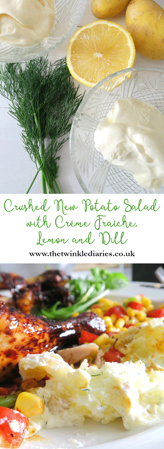 How to Make Tasty Crushed New Potato Salad with Créme Fraîche, Lemon and Dill by The Twinkle Diaries