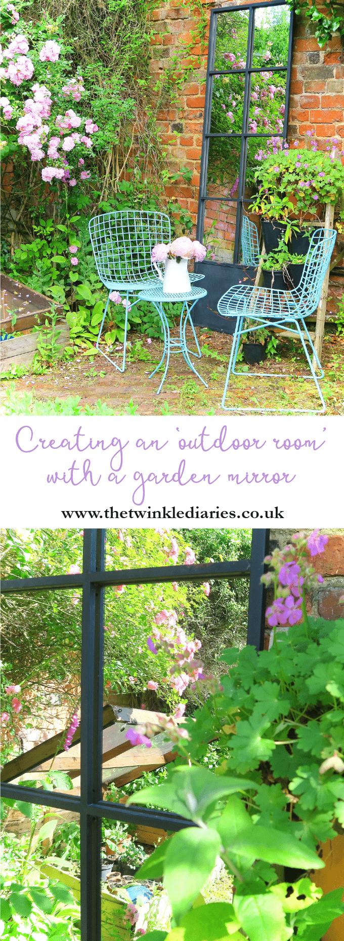 Creating an 'outdoor room' with a garden mirror