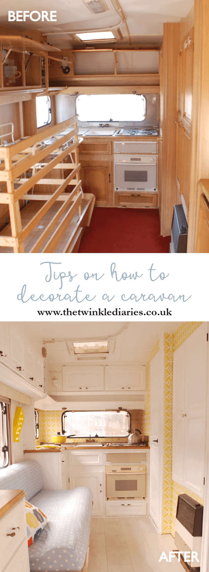 Tips on Decorating a Caravan by The Twinkle Diaries