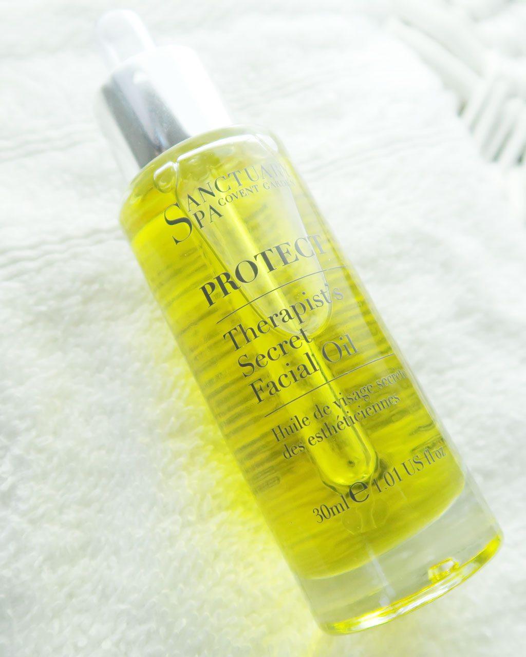 Sanctuary Spa Products Review — Sanctuary Spa Therapist's Secret Facial Oil