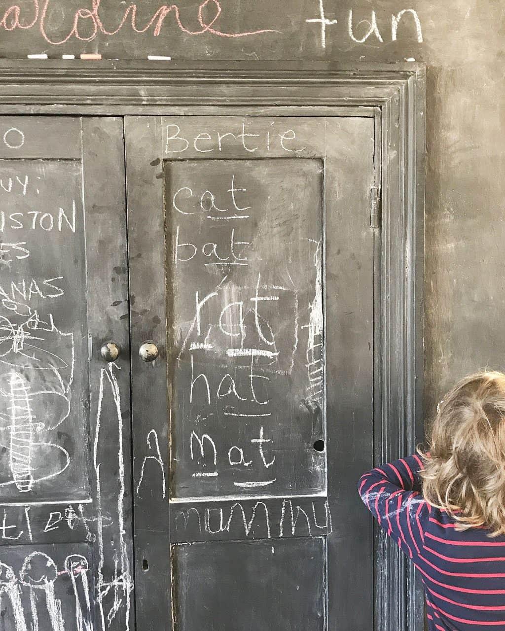 chalkboard kitchen cupboard