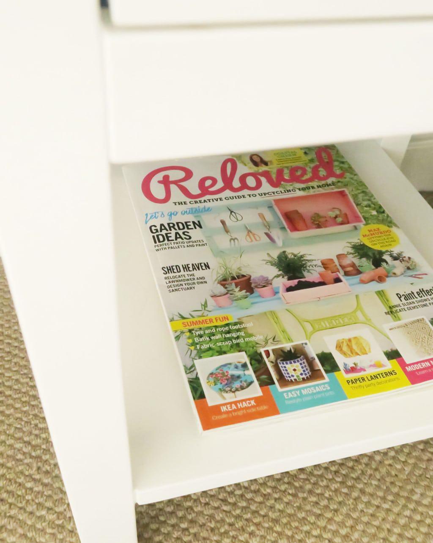 A colourful bedroom makeover | Radley bedside table