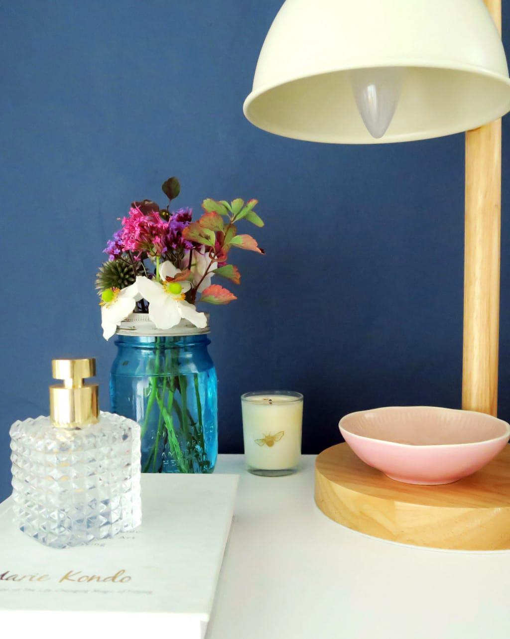 A colourful bedroom makeover | My bedside table