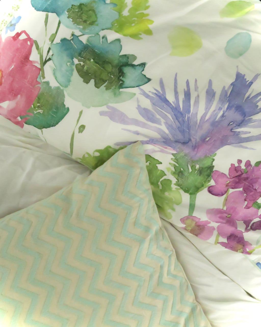 A colourful bedroom makeover | Tetbury Meadow bedding from bluebellgray