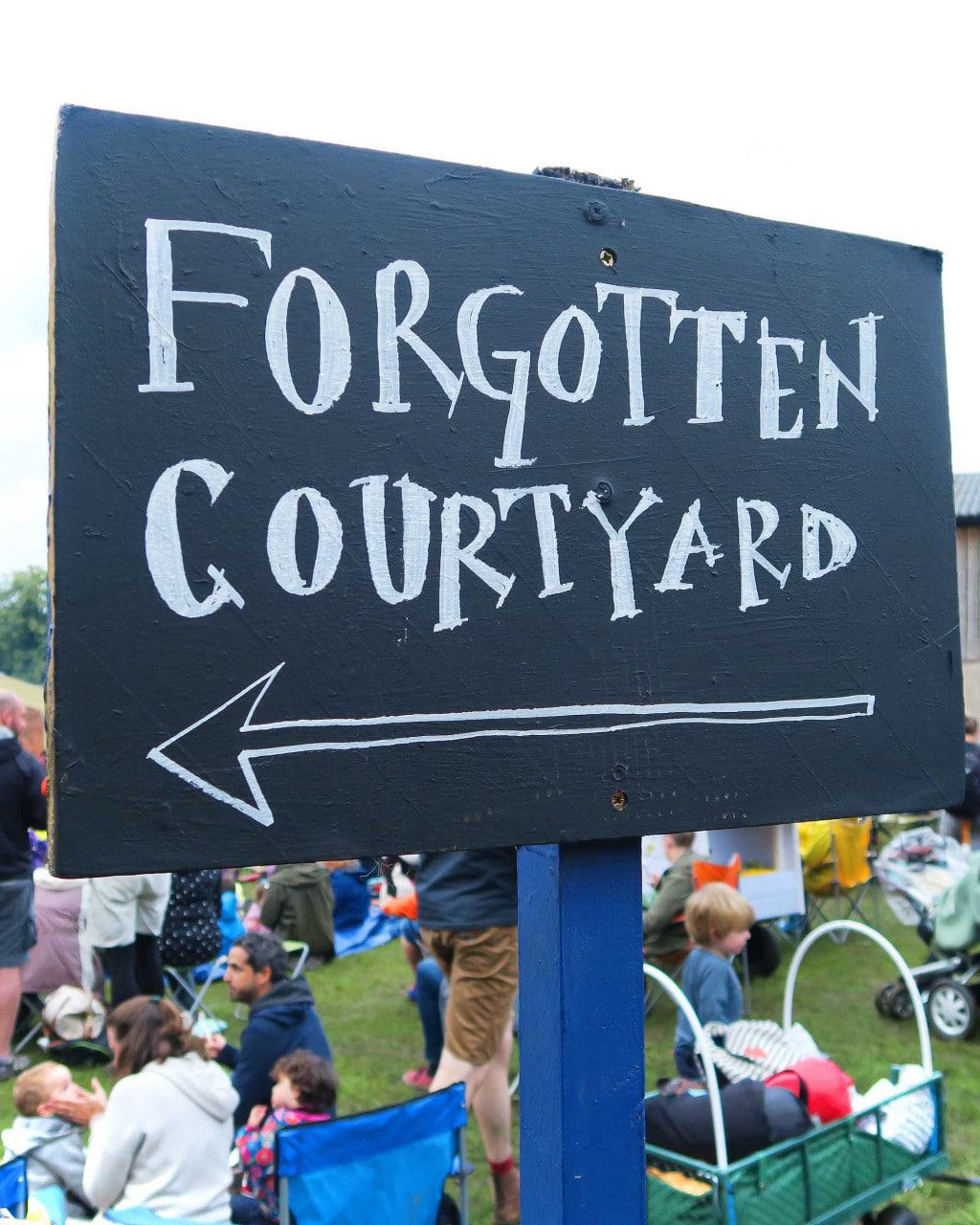 The forgotten courtyard at Just So festival