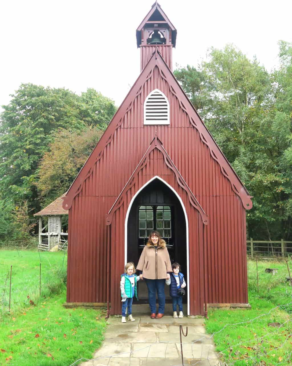 A little tiny tin church at the Chiltern Open Air Museum