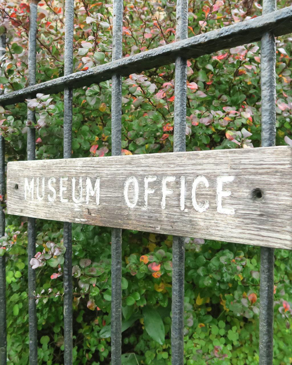 The Chiltern Open Air Museum office sign