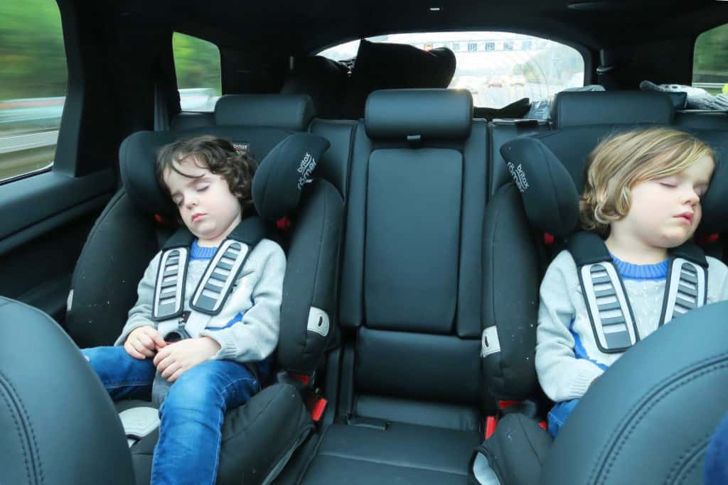Our Land Rover Discovery Sport review featuring 'The Discovery Adventures' —  the  Discovery Sport HSE LUX — all the excitement has finished the twins off!!