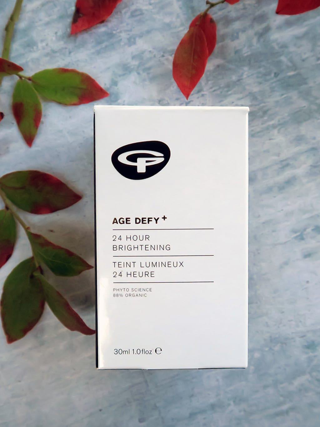 Seasonal skincare using Green People products | 24 hour brightening moisturiser
