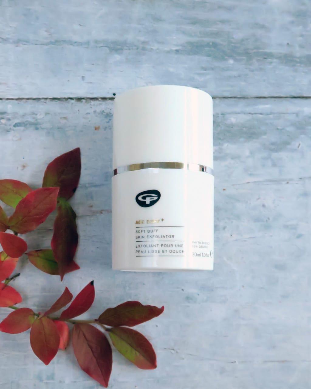 Seasonal skincare using Green People products   Soft Buff Skin Exfoliator