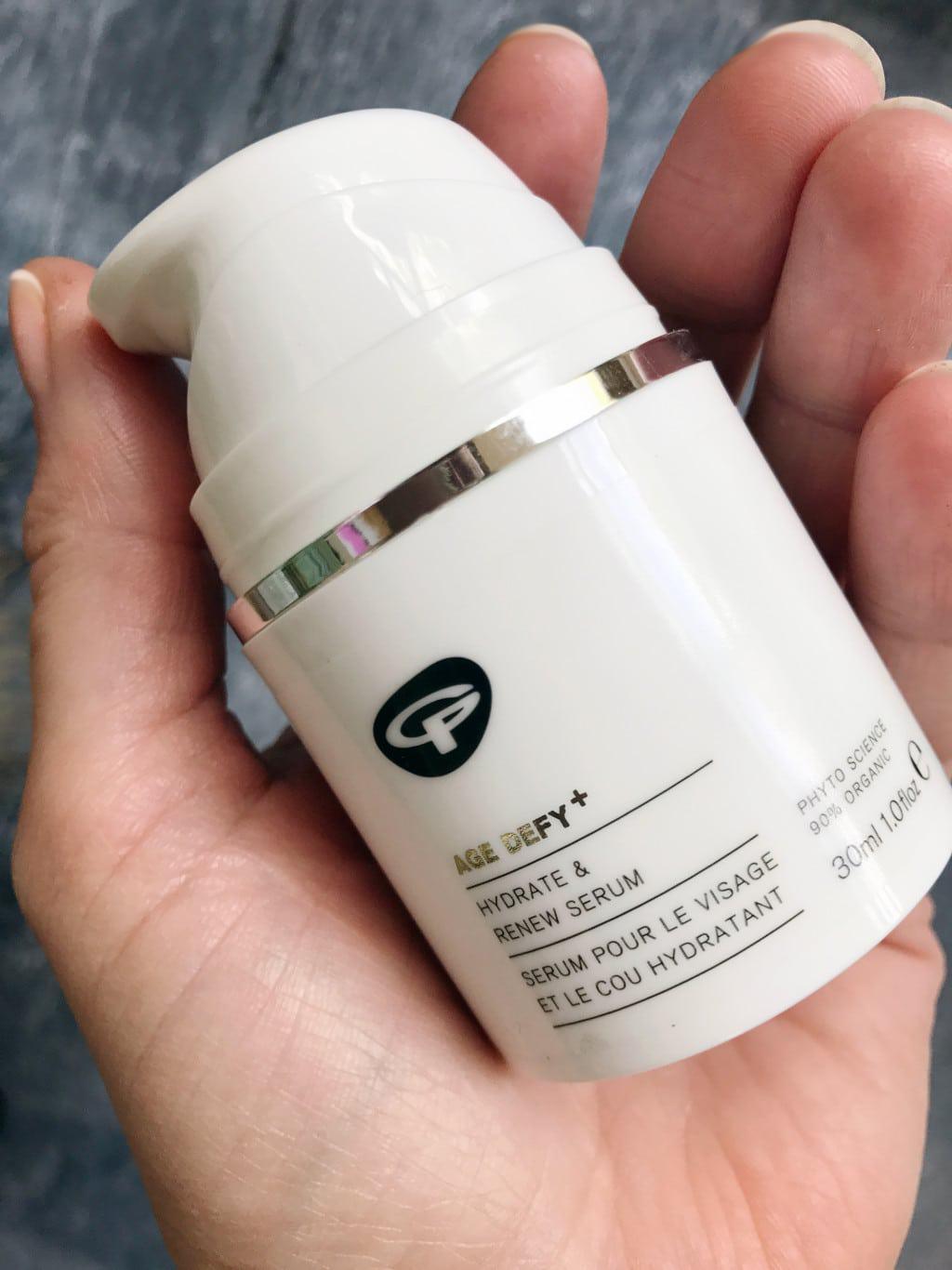 Seasonal skincare using Green People products | Hydrate and renew serum