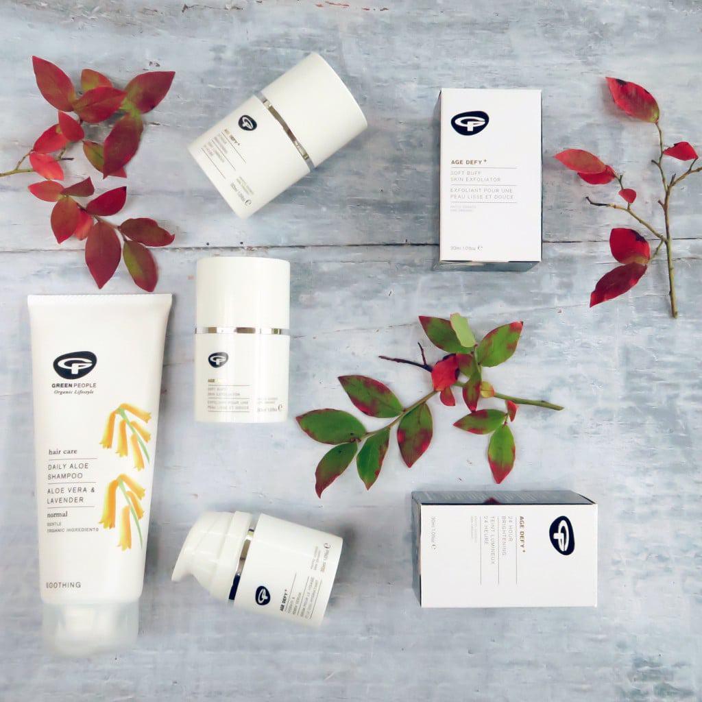 Seasonal skincare using Green People products