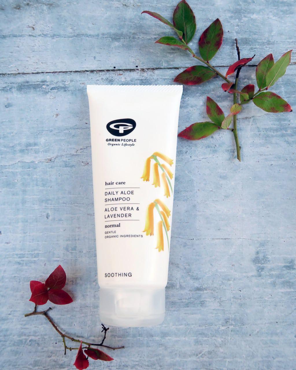 Seasonal skincare using Green People products | Daily Aloe Shampoo without SLS