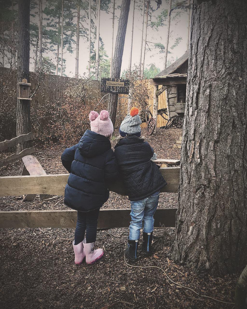 cousins enjoying Lapland UK — our lapland UK review