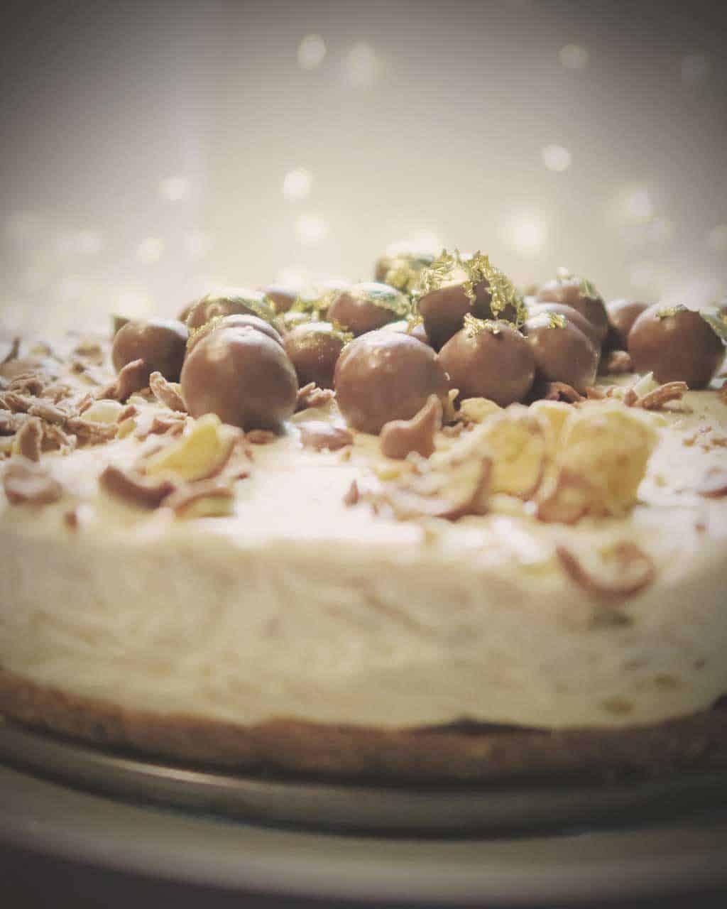 Easy No Bake Malteser Cheesecake
